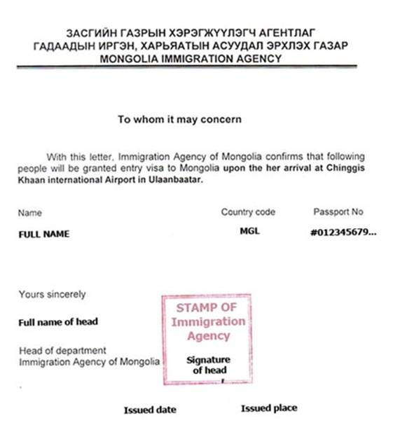Russia Invitation Letter For Visa